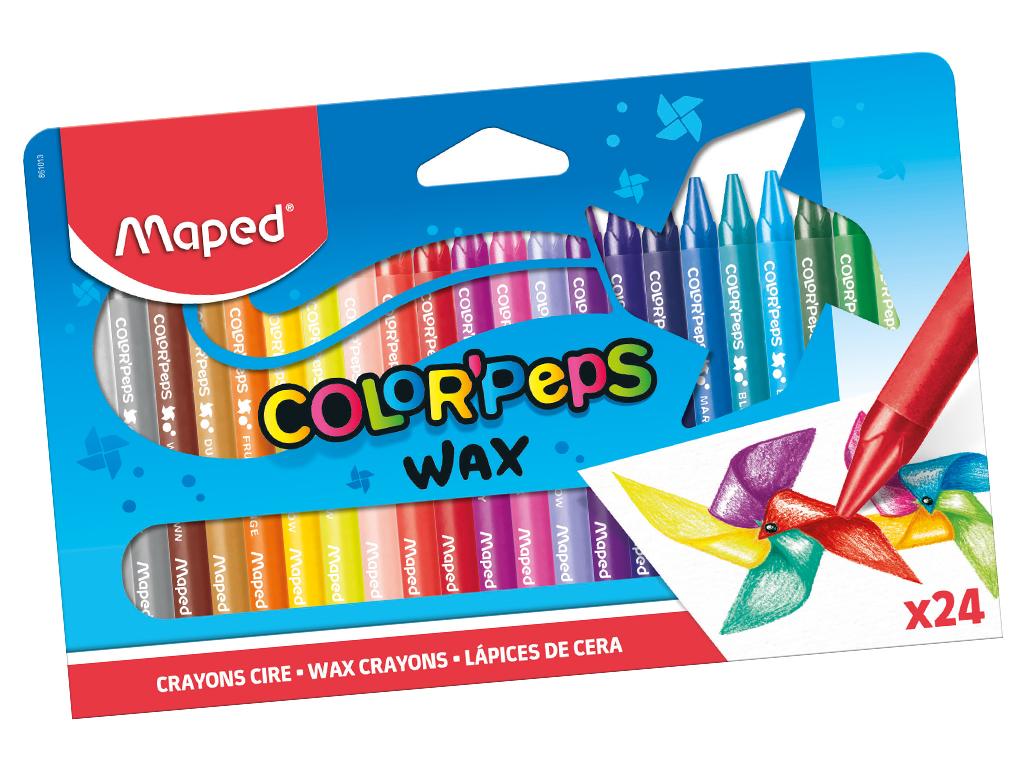 Vaškinė kreidelė ColorPeps 24vnt.
