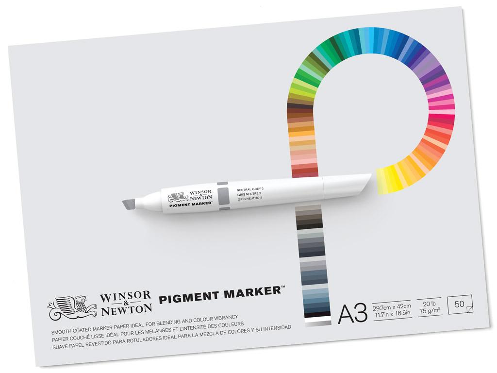 Piešimo bloknotas W&N Pigment Marker A3/75g 50 lapų