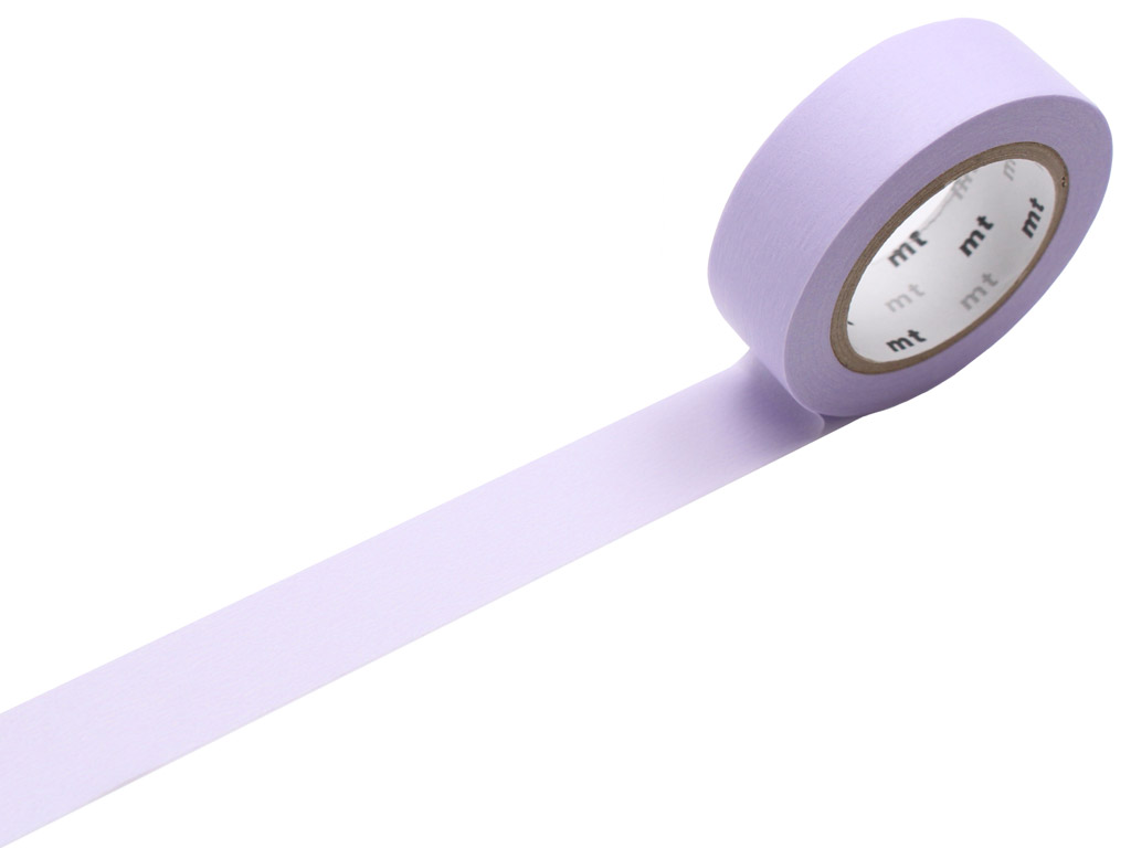 Washi dekoratyvi lipni juostelė mt 1P basic 15mmx10m pastel purple