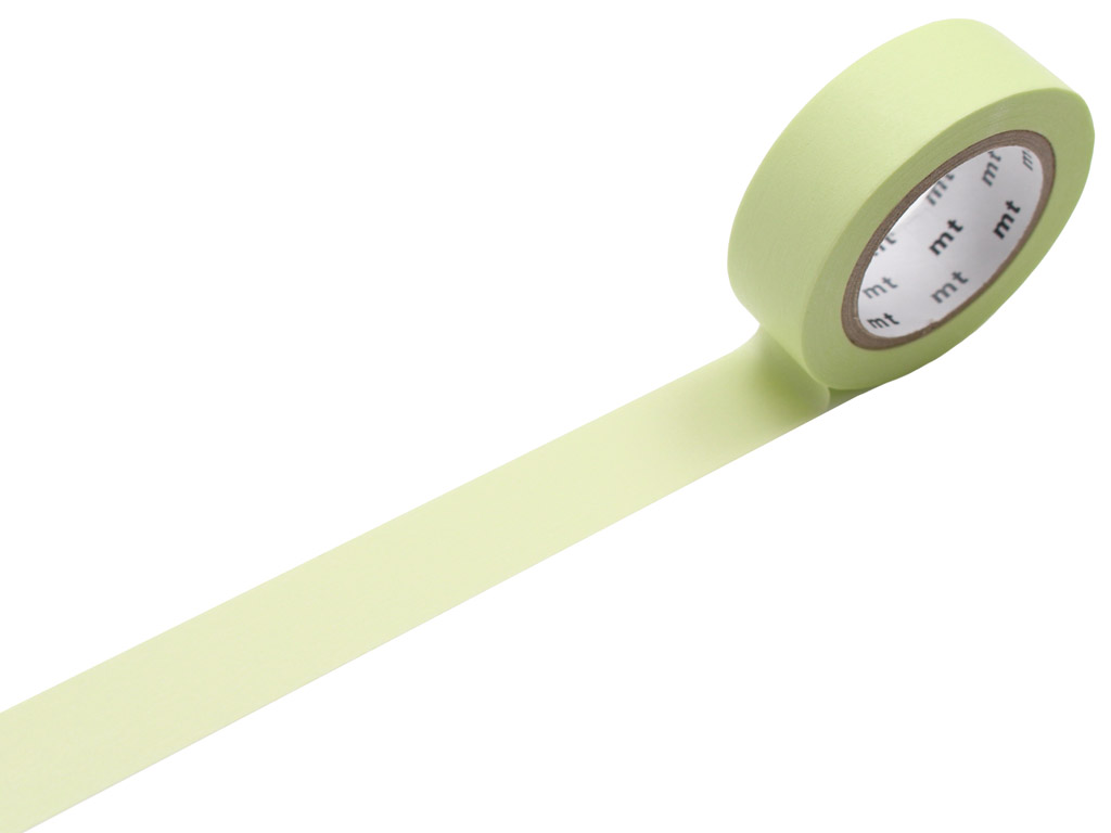 Washi dekoratyvi lipni juostelė mt 1P basic 15mmx10m pastel lime