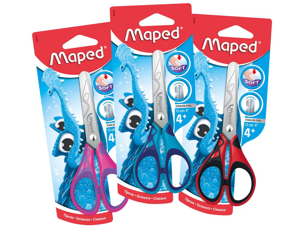 Žirklės Maped Essentials Soft 13cm blister.