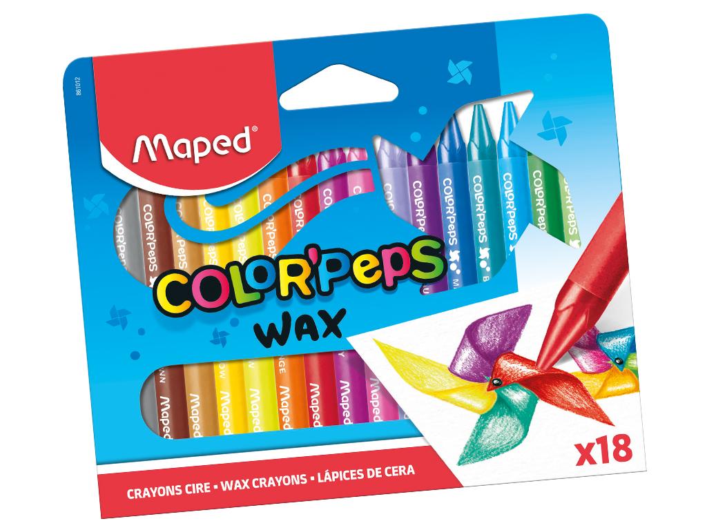 Vaškinė kreidelė ColorPeps 18vnt.