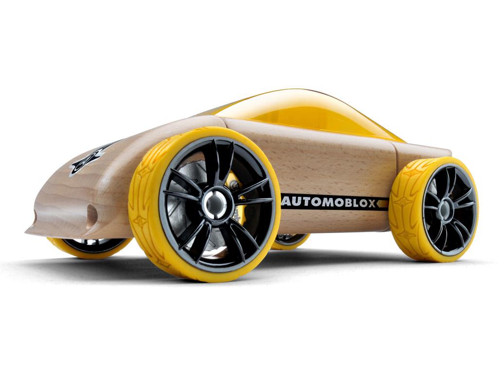 Rotaļu auto Automoblox Original C9 sportscar yellow