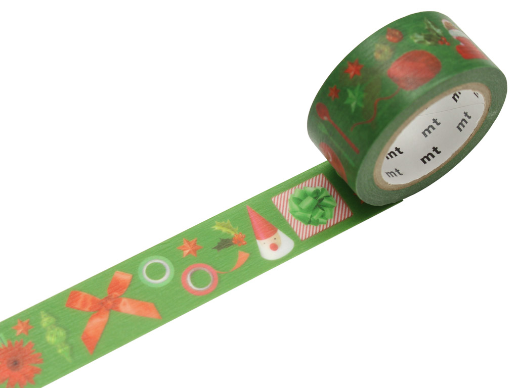 Washi teip mt jõulud 20mmx7m red and green
