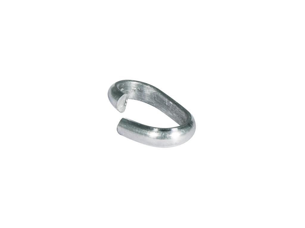 Grandinėlės tvirtinimo žiedas 12x7x2mm 8vnt. platinum