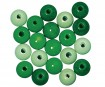 Wooden beads polished 12mm 32pcs green colours