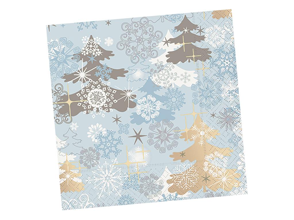 Servetėlės 25x25cm 20vnt. 3 sluoksnių A Touch of Winter