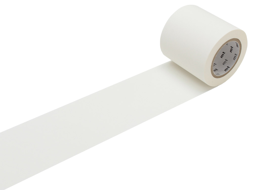 Washi dekoratyvi lipni juostelė mt casa basic 50mmx10m matte white