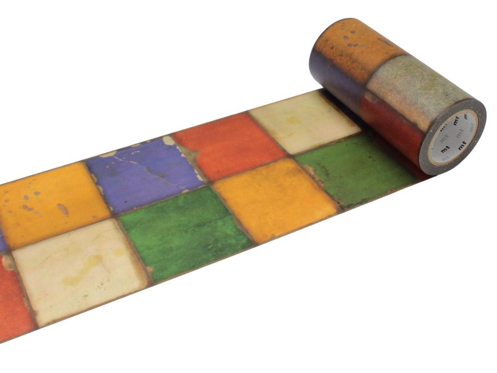 Washi dekoratyvi lipni juostelė mt casa deco 100mmx10m tile vintage