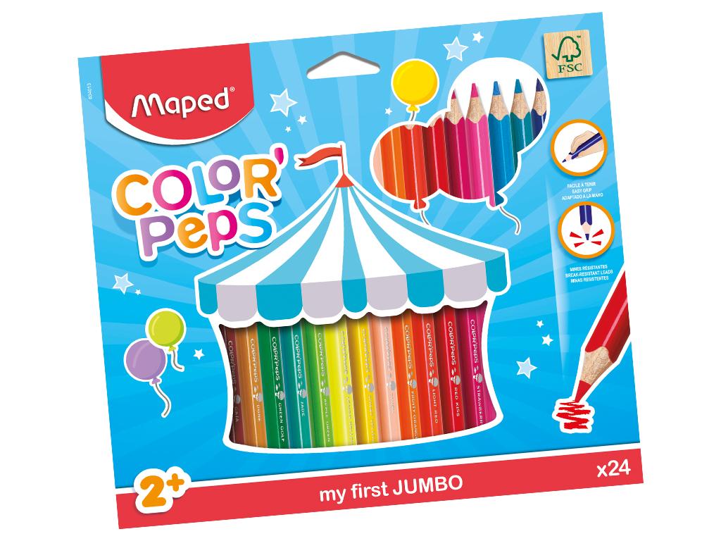 Värvipliiats ColorPeps Early Age Jumbo 24tk