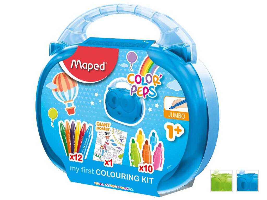 Joonistuskomplekt ColorPeps Early Age kohvris assortii