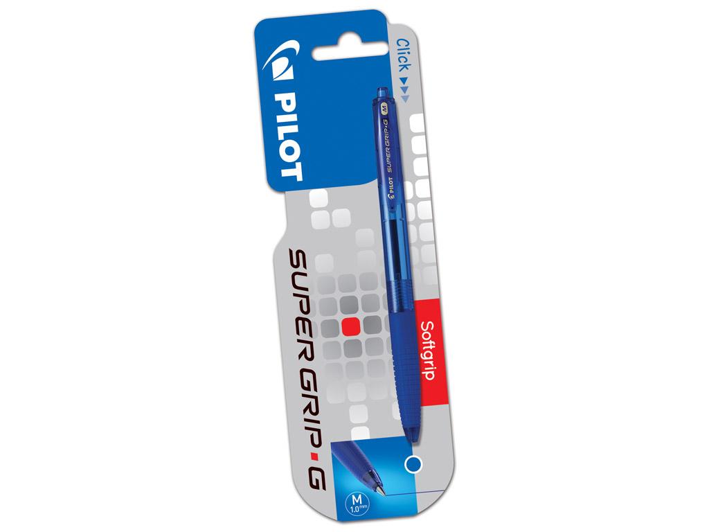Lodīšu pildspalva Pilot Supergrip G RT 1.0 zila blisterī