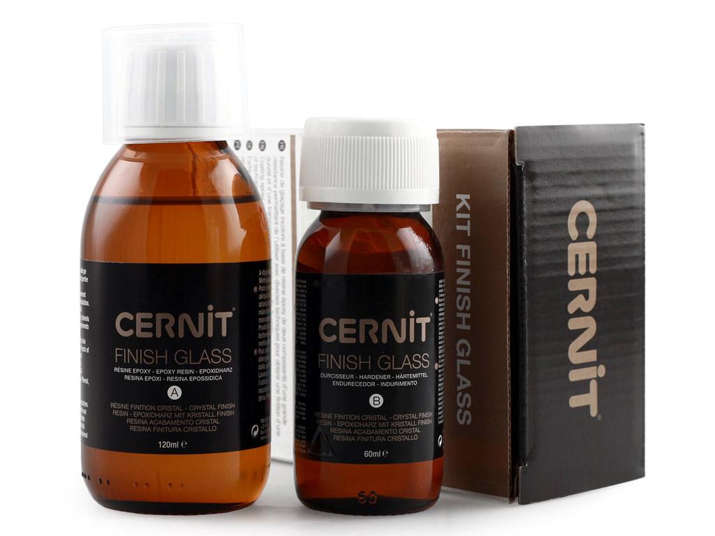Lakavimo rinkinys Cernit Glass 120ml epoksidinė guma+60ml kietiklis