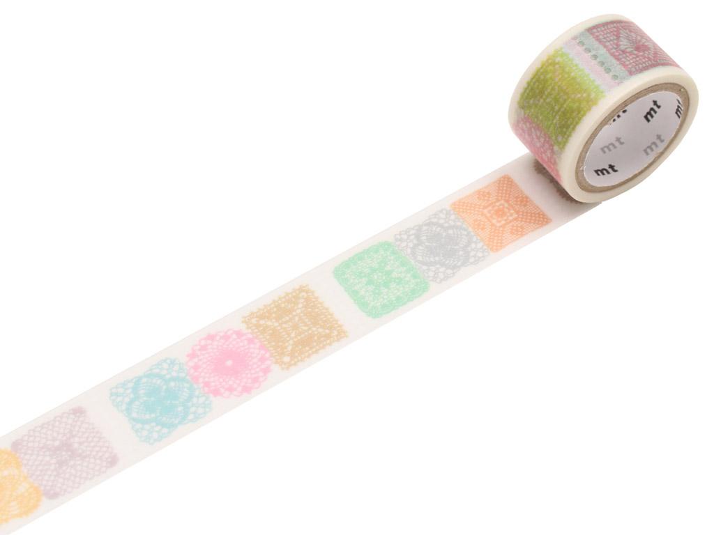Washi dekoratyvi lipni juostelė mt fab 20mmx3m crochet