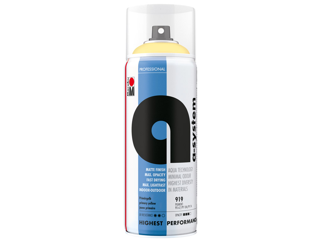 Aerosoolvärv a-system 400ml 919 primary yellow