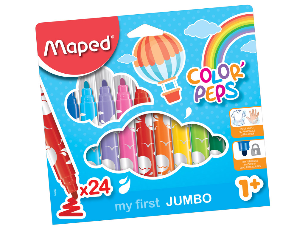 Flomasteris ColorPeps Early Age Jumbo 24vnt.
