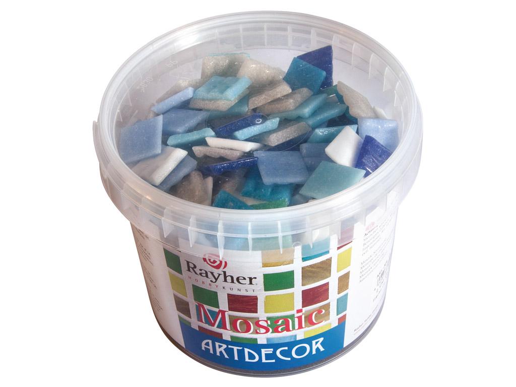 Mosaiikkivid Rayher ArtDecor 2x2cm ~325tk/1kg sinised toonid