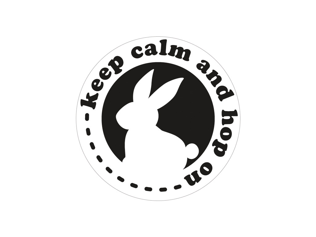 Klišė įspaudui Rayher d=45mm Keep calm and hop on