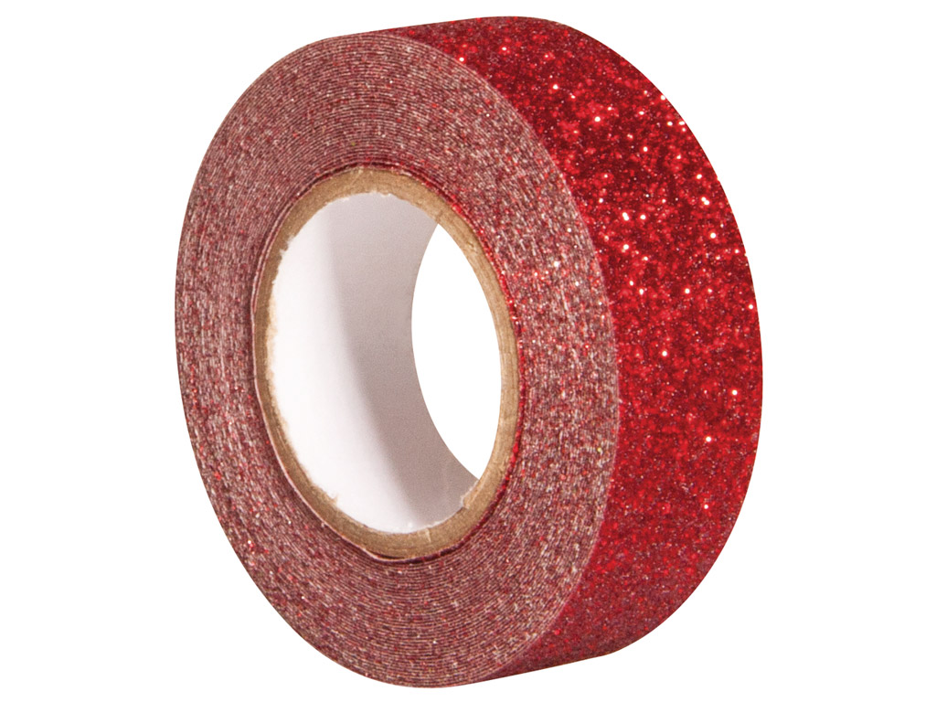 Glitter tape Rayher 15mmx5m classical red