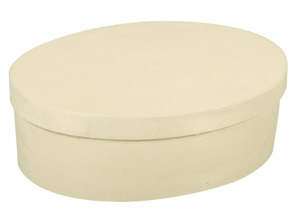 Medinė dėžutė Rayher ovali 9x12x5cm