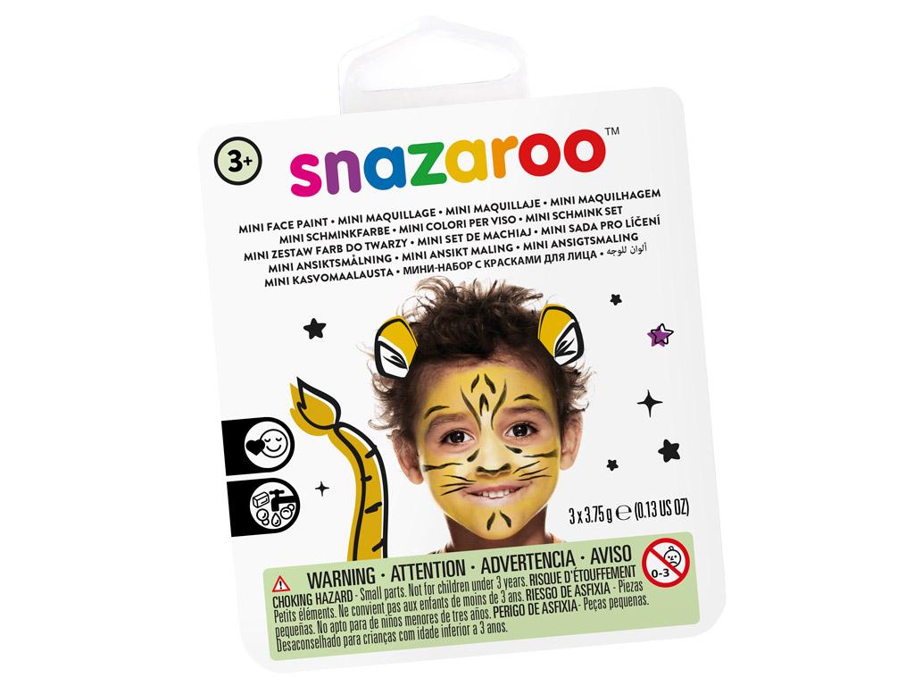 Veido dažų rinkinys Snazaroo Mini 3 spalvos+teptukas+kempinėlė Tiger