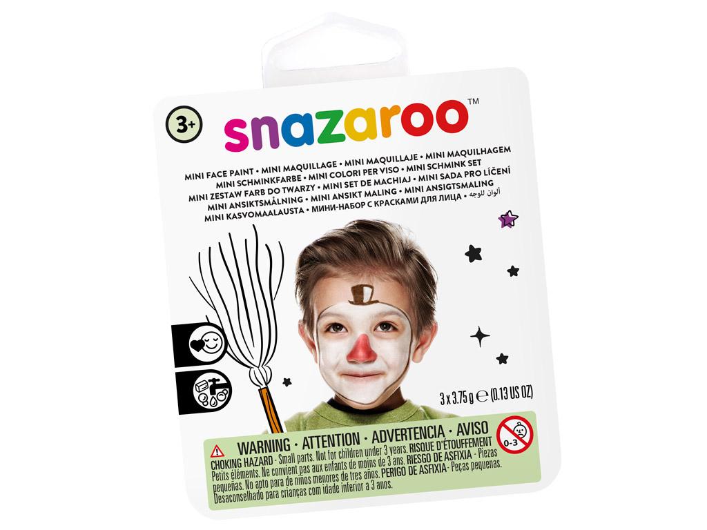 Veido dažų rinkinys Snazaroo Mini 3 spalvos+teptukas+kempinėlė Snow Man