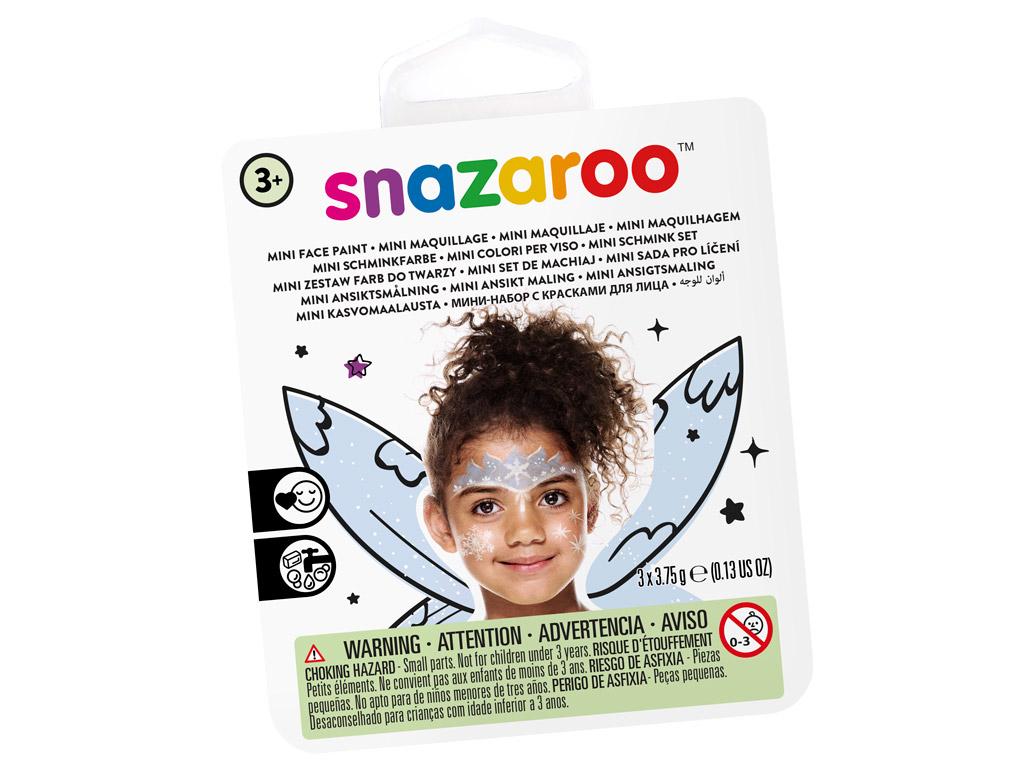 Veido dažų rinkinys Snazaroo Mini 3 spalvos+teptukas+kempinėlė Ice Fairy