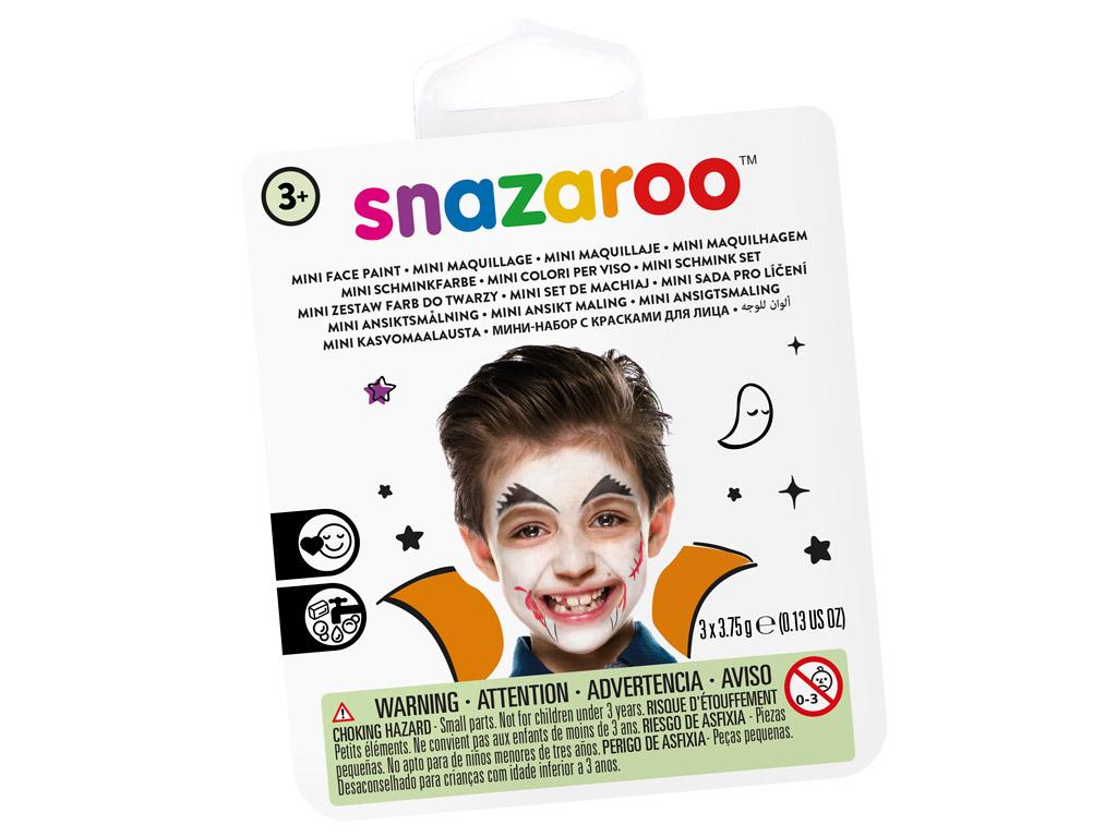 Veido dažų rinkinys Snazaroo Mini 3 spalvos+teptukas+kempinėlė Vampire