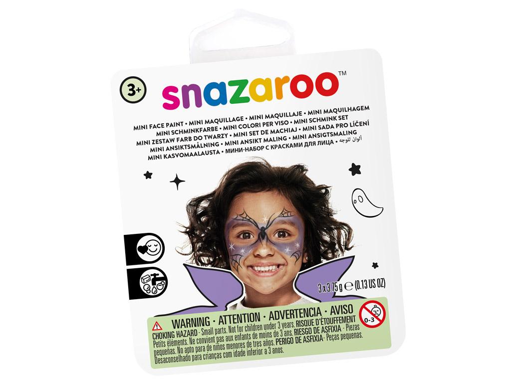 Veido dažų rinkinys Snazaroo Mini 3 spalvos+teptukas+kempinėlė Witch