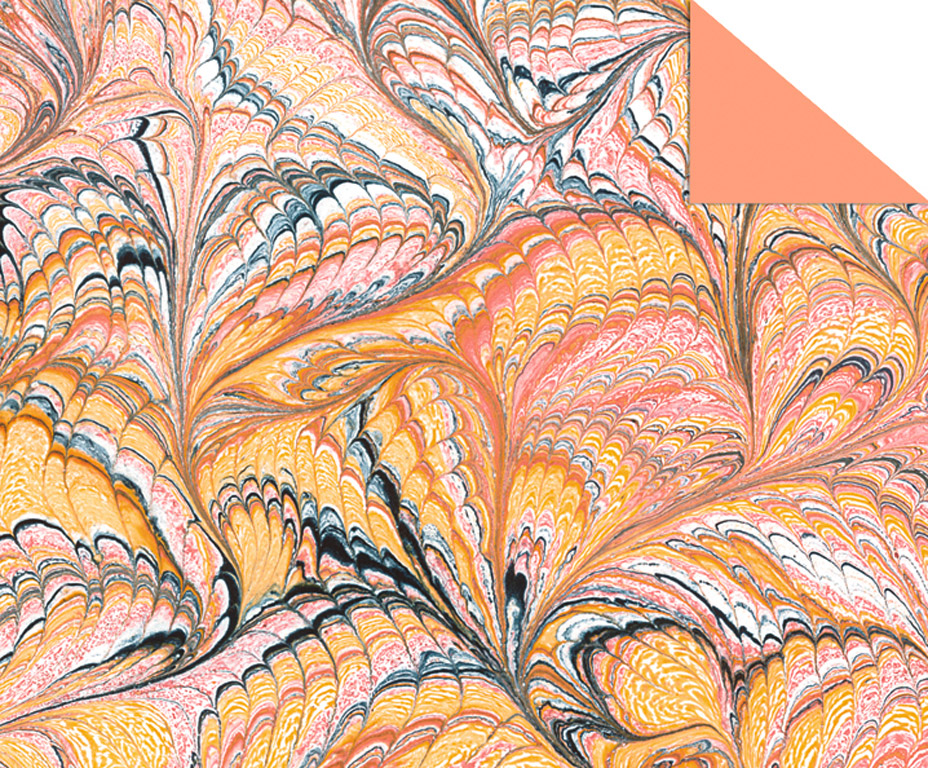 Kartong mustriga Ursus Art 49.5x68cm/220g oranz