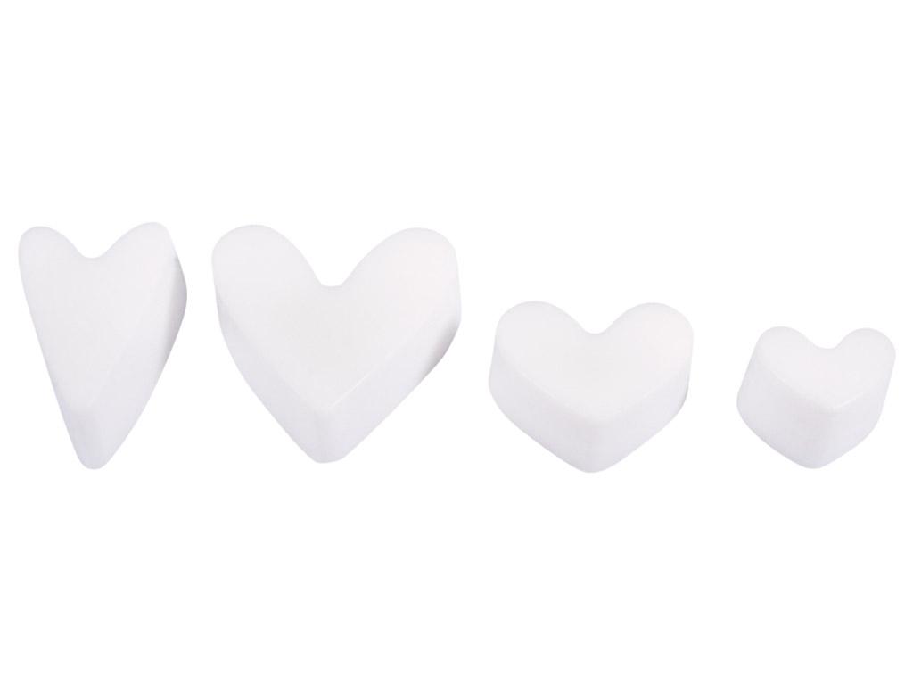 Formelė muilui Rayher h=3cm širdelė 4 motyvai