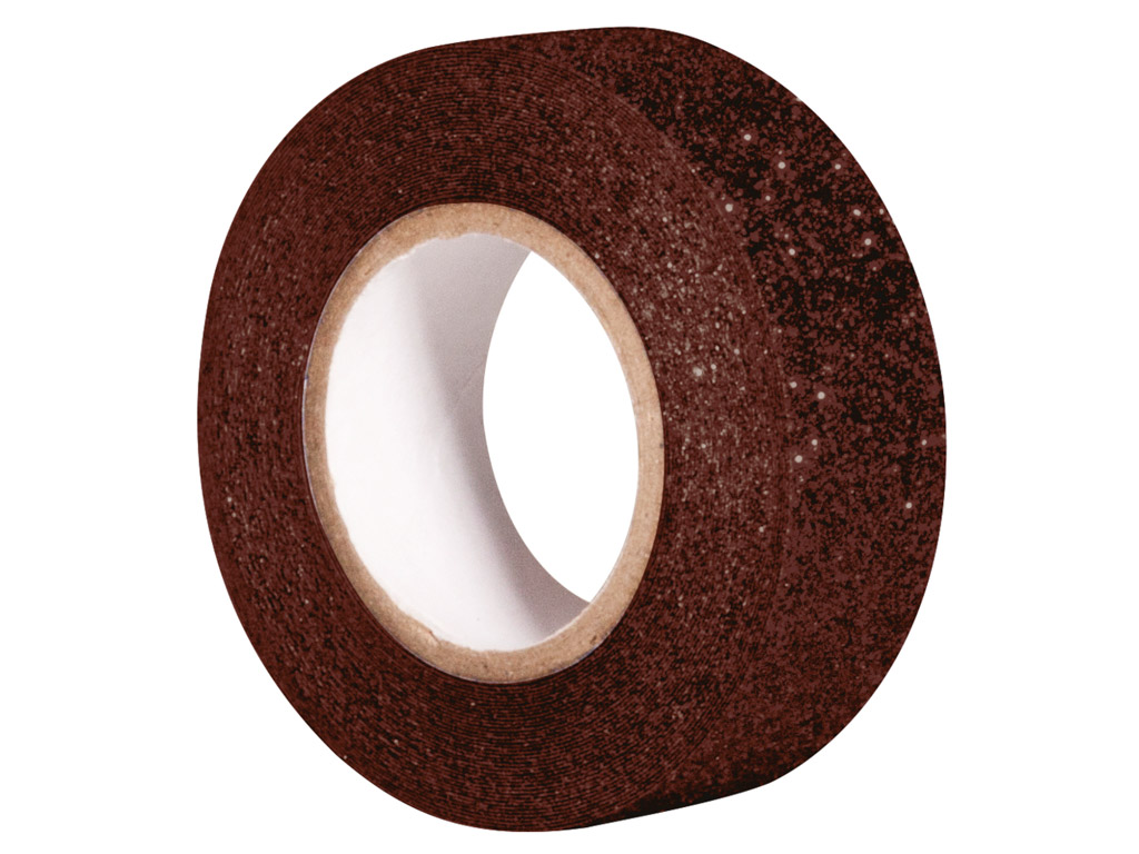 Glitter tape Rayher 15mmx5m dark brown