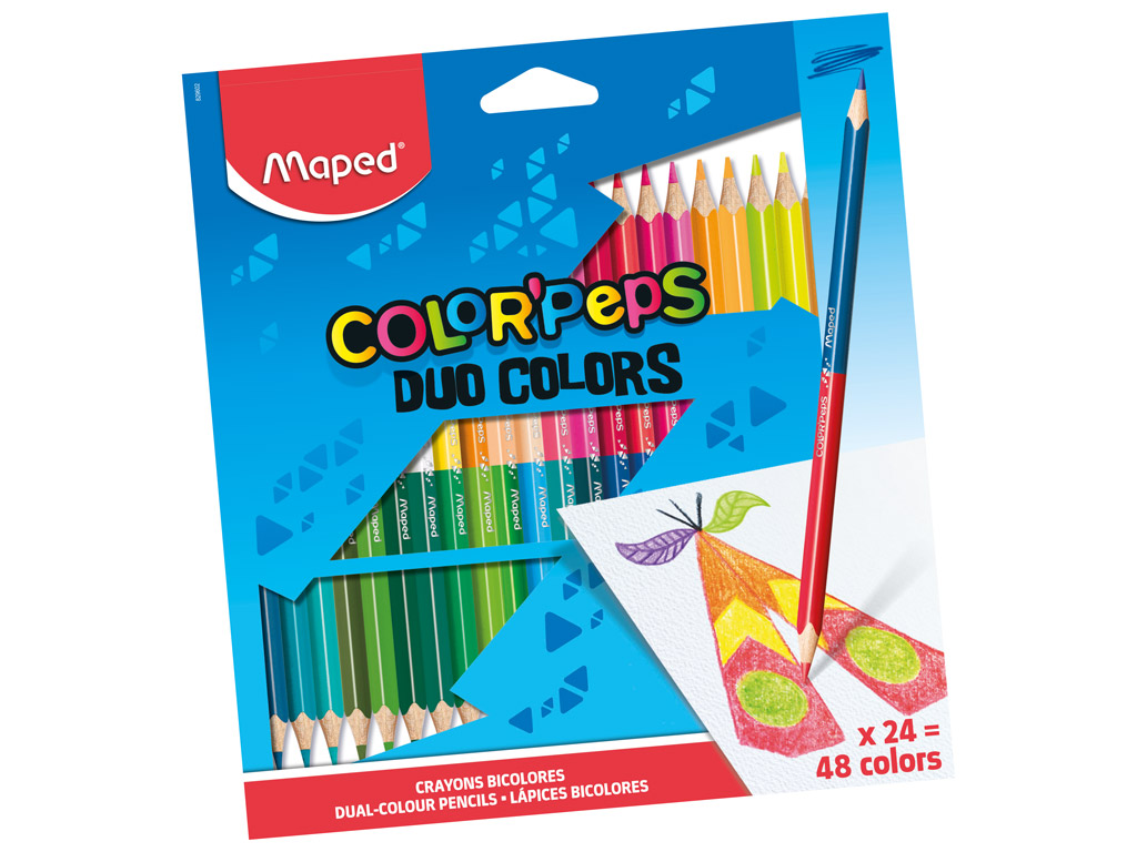 Spalvotas pieštukas ColorPeps Duo 24vnt.=48vnt.