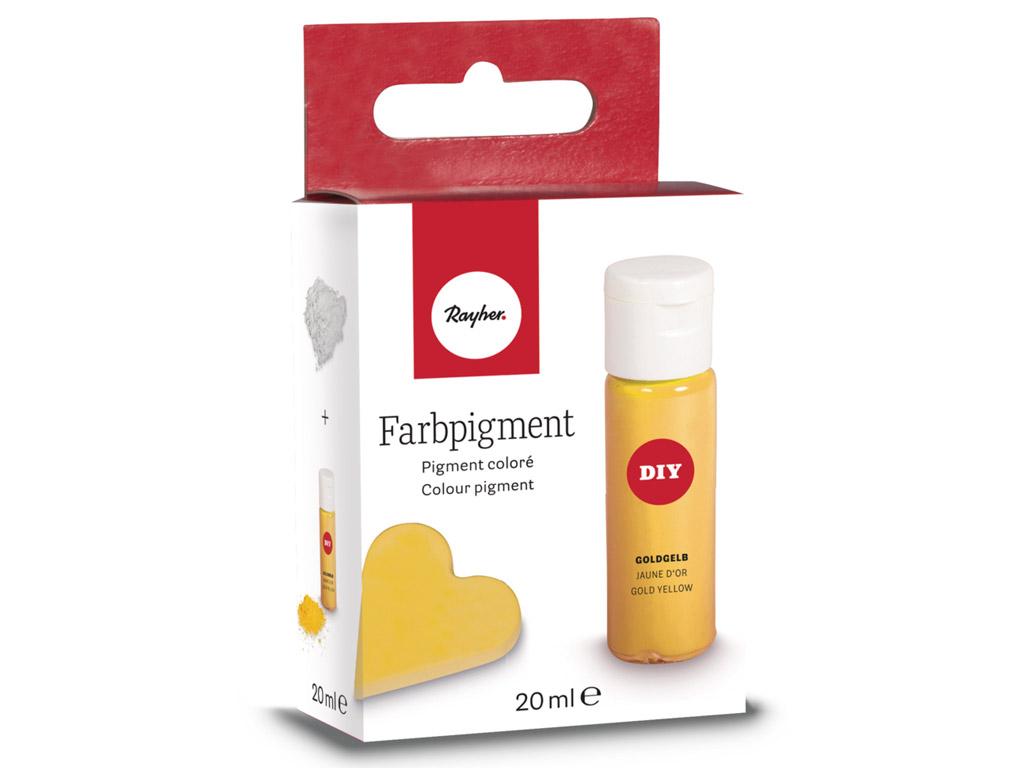 Pigmentas Rayher 20ml golden yellow