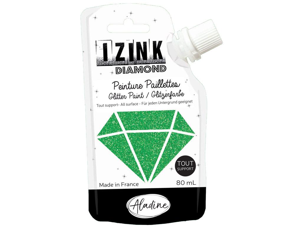 Dekoratyviniai dažai Aladine Izink Diamond 80ml dark green