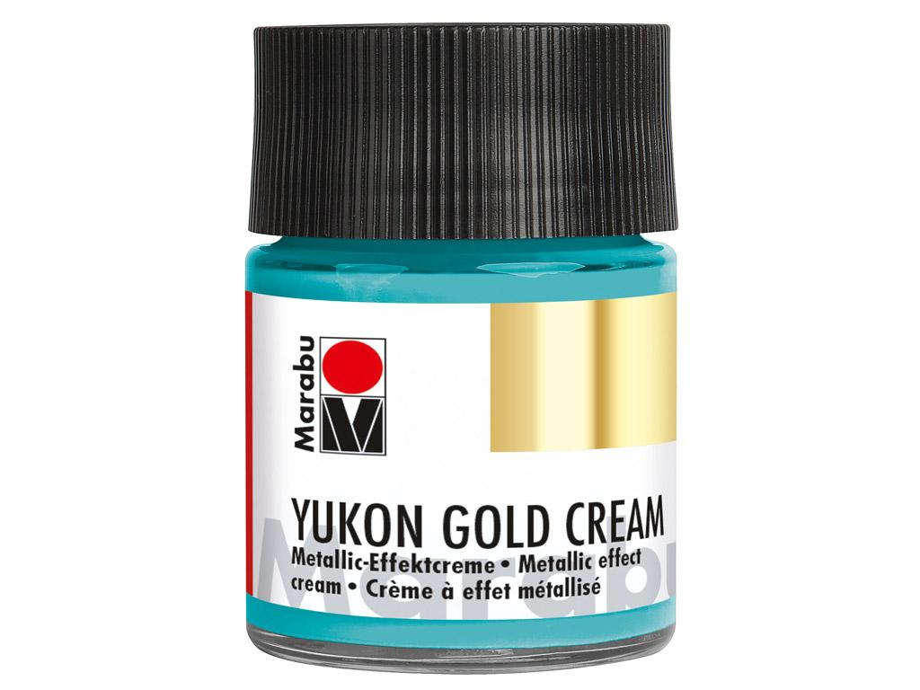 Dekoorvärv Yukon Gold Cream 50ml 758 metallic-turquoise