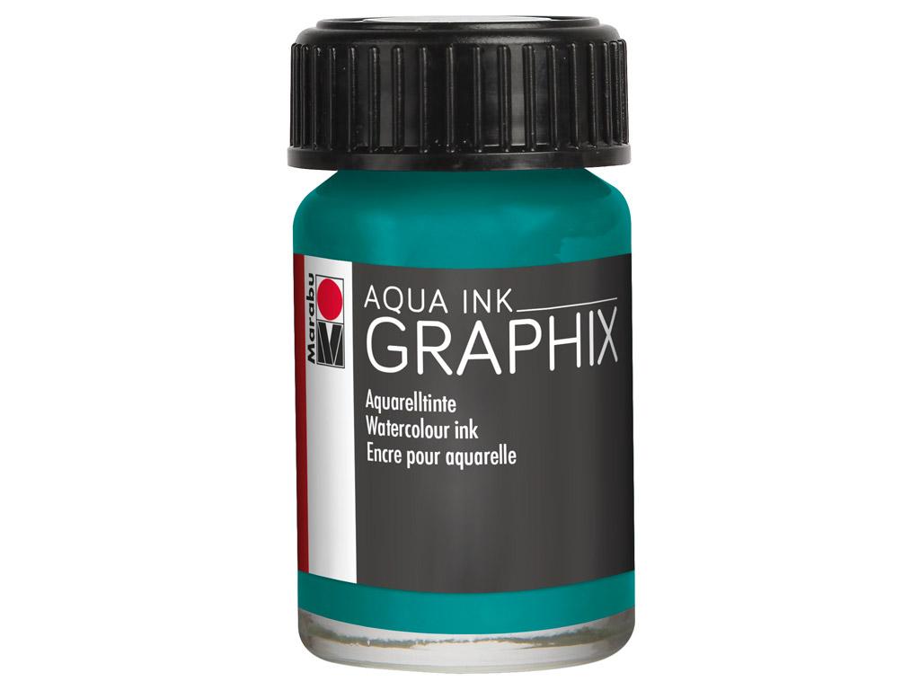 Akvarelinis tušas Graphix 15ml 092 petrol