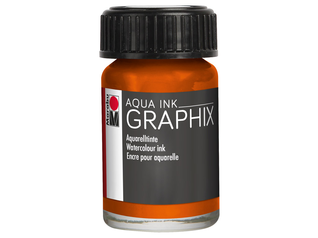 Akvarelltint Graphix 15ml 013 orange