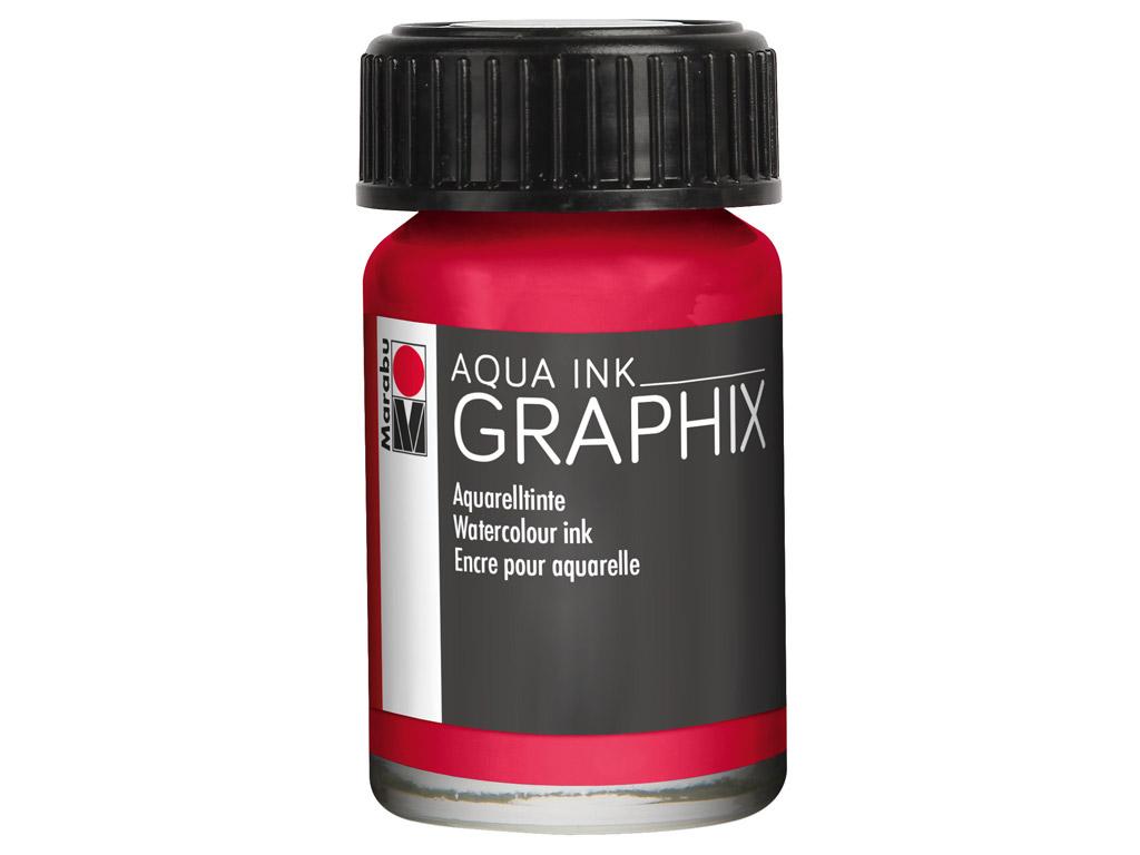 Akvarelinis tušas Graphix 15ml 032 carmine red