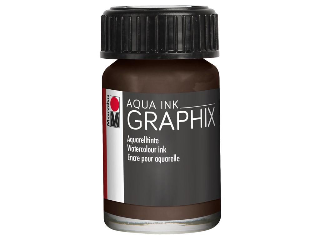 Akvarelinis tušas Graphix 15ml 045 brown