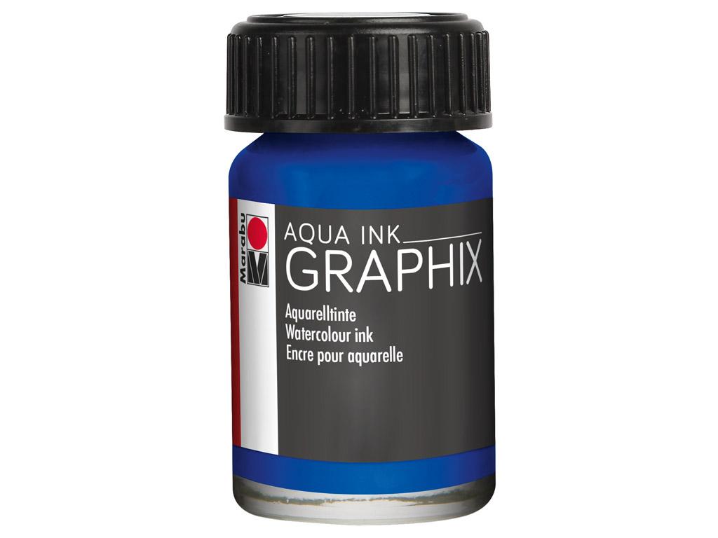 Akvarelinis tušas Graphix 15ml 055 ultramarine