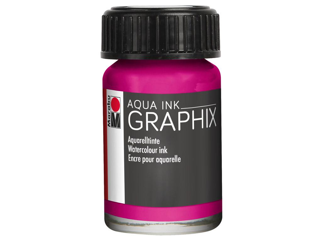 Akvarelinis tušas Graphix 15ml 014 magenta