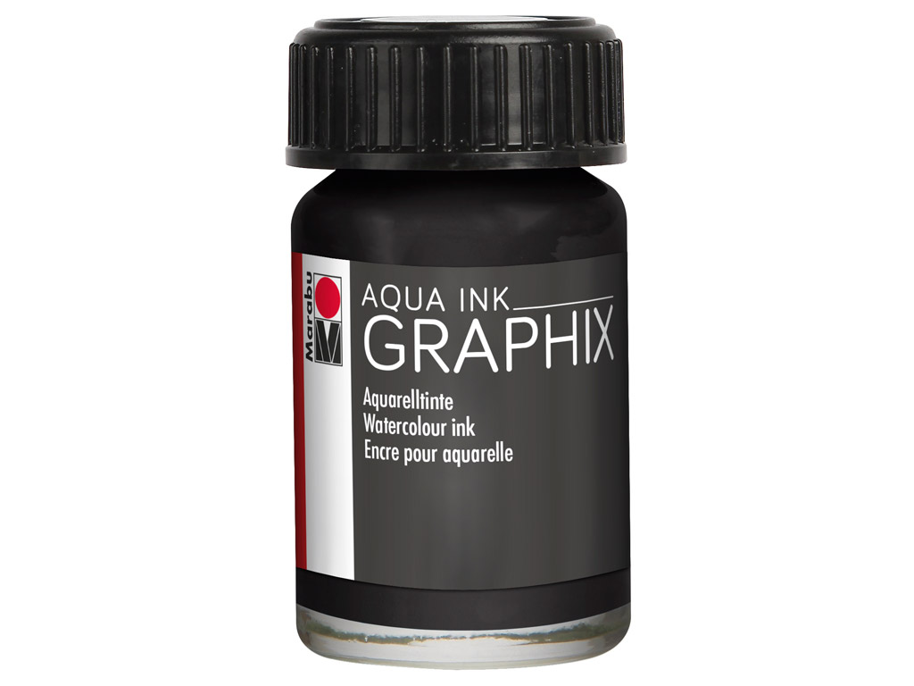 Akvarelinis tušas Graphix 15ml 073 black