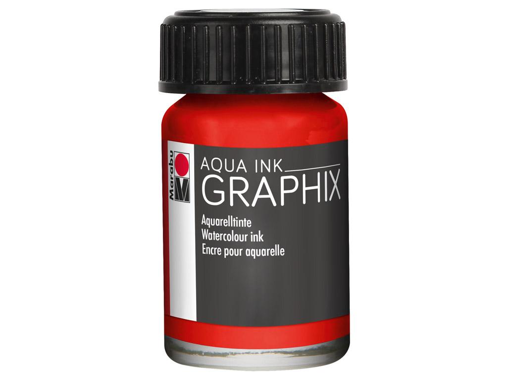 Akvarelinis tušas Graphix 15ml 006 vermilion