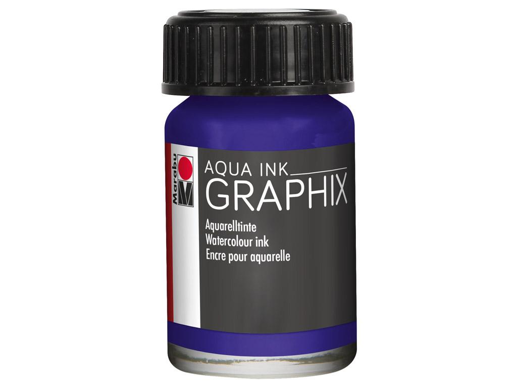 Akvarelinis tušas Graphix 15ml 051 dark violet