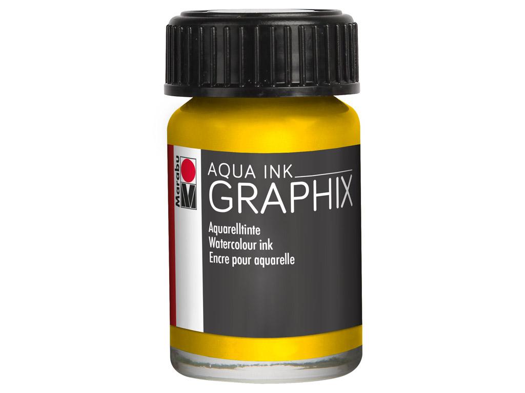 Akvarelinis tušas Graphix 15ml 020 lemon