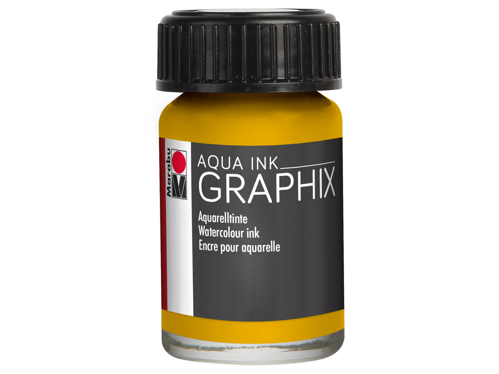Akvarelinis tušas Graphix 15ml 220 sunshine yellow