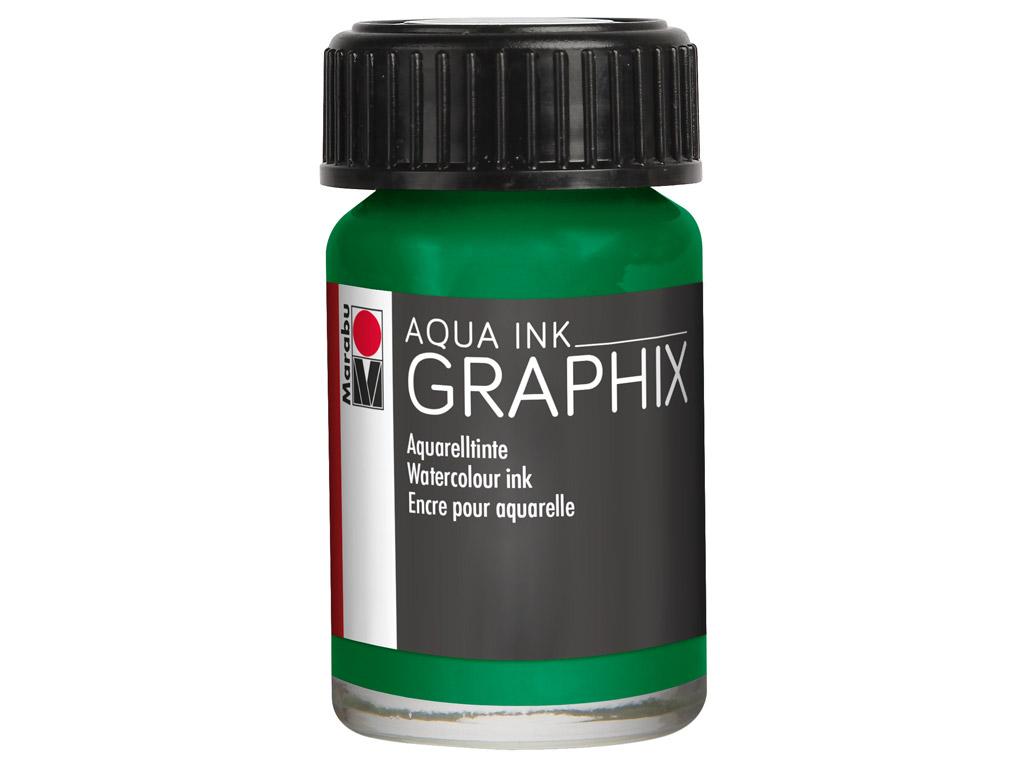 Akvarelinis tušas Graphix 15ml 153 mint