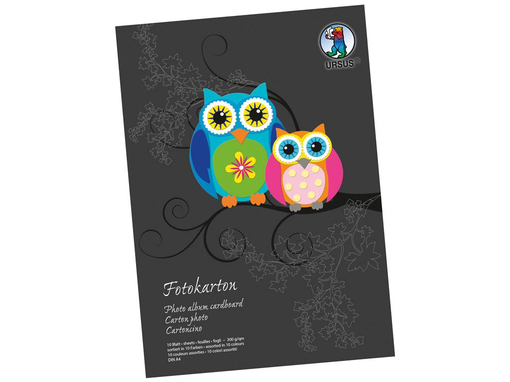 Kartonas spalvotos Ursus Special Edition A4/300g 10 lapų