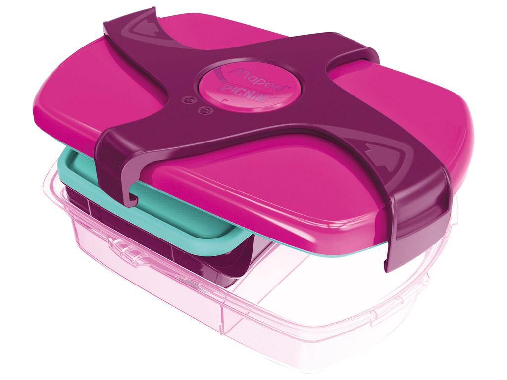 Priešpiečių dėžutė Maped Picnik Kids Concept 3 dalių 1.78l pink